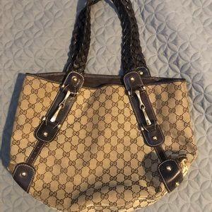 Gucci Pelham Shoulder Bag GG Canvas Small